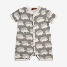 Organic Hedgehog Shortall - Sage Grey