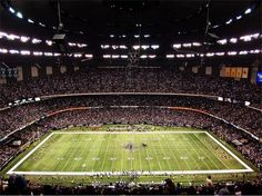 Mercedes-Benz Superdome. Really wish I were here for the Saints-Falcons game last night.