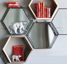 Honeycomb Shelf & Chantal Shadow Box