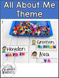 All About Me Activities For Toddlers, Preschool About Me, Writing Activities For Preschoolers, Home Preschool, Preschool Classroom, Teaching Ideas, Classroom Ideas, Kindergarten, Preschool Lesson Plans