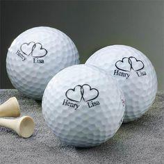Personalized Wedding Golf Balls-Set of 3: Personalized Gifts : Walmart.com
