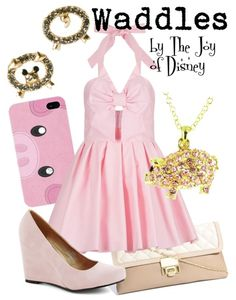 Outfit inspired by Waddles, the adorable pig from Gravity Falls! Pink Outfits, Fall Outfits, Cute Outfits, Casual Cosplay, Cosplay Outfits, Gravity Falls Cosplay, Disney Inspired Fashion, Disney Fashion, Cute Fashion