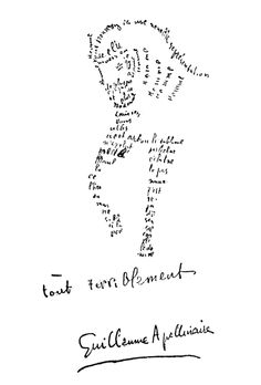 Guillaume Apollinaire - Calligramme - Cheval