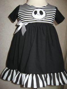 NEW Goth Baby Girls Black White Nightmare B4 Xmas Dress Headband SET Rock Punk   eBay