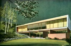 Architect: Kenneth Lind - Pacific Palisades, CA - Built: 1949 Mid Century Style, Mid Century House, Mid Century Modern Design, Mid Century Modern Houses, Vintage Architecture, Architecture Design, Architecture Illustrations, Architecture Sketches, Spanish Architecture