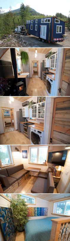 The Winter Wonderland (380 sq ft): an off-grid tiny home from Nelson Tiny Houses. Yay! A local company.