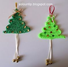 prepara decoraciones navideñas ya!! con #hijos, ganchillo y lanas de color verde!!