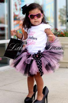 Diva Tutu - Pink and Black Tutu with Polka Dot Bow  (Sizes Newborn to 4T)  Infant Tutu, Toddler Tutu, Birthday Tutu, Baby Gift by LittleLeahTutus on Etsy https://www.etsy.com/listing/157642532/diva-tutu-pink-and-black-tutu-with-polka