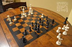 Our DIY Chess Table