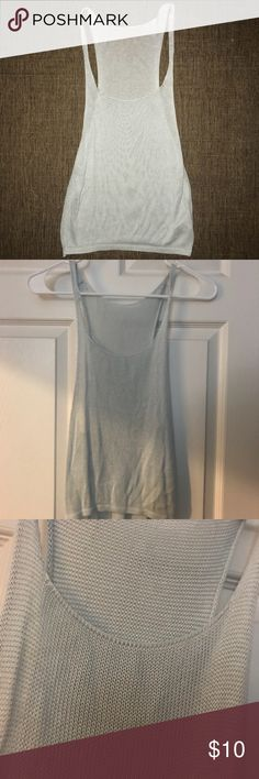 Brandy Melville Knit Pastel Blue Tank Top Worn only once. The shirt is so much cuter on than on a hanger! Brandy Melville Tops Tank Tops
