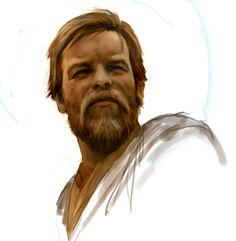 Obi-Wan/Ewan McGregor study by Chris Scalf Star Wars Film, Star Wars Fan Art, Star Wars Jedi, Ewan Mcgregor, The Force Is Strong, Obi Wan, Star Wars Episodes, Sci Fi Fantasy, Clone Wars