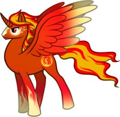 MLP Alicorn Stallion | Commission - Alicorn of Fire by FeatherAdopts