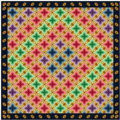 Shades of Bargello cross stitch pattern PDF by Whoopicat on Etsy