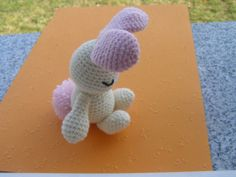 This crocheted Bunny was created by Sandra, a crafter from Croatia. I just happen to have the right yarns and I'm going to make it for my granddaughter, Lily, tonight!