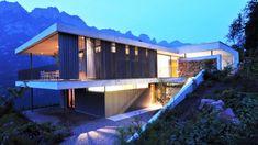 Haus am Walensee, Murg | Aicher Ziviltechniker GmbH Architecture Photo, Amazing Architecture, Style At Home, Luxury Villa, New Homes, Real Estate, Exterior, Interior Design, House Styles