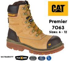 Caterpillar Parker Steel Toe Cap Safety Bottes En Cuir CAT Catapillar 7068