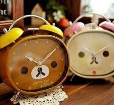 Kawaii Rilakkuma Ben Ben Bear Clock via Etsy. I love rilakkuma