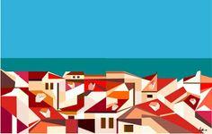 jbeja: telhados e mar,by joão beja