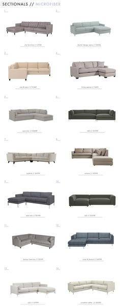 Kid Friendly Sectionals - Microfiber