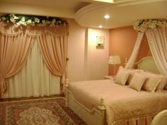 Romantic Bedroom decoration ideas for Wedding Night is one of the most attractive function. In Wedding Night Romantic Bedroom decorating id. Romantic Bedroom Design, Modern Bedroom, Bedroom Designs, Master Bedroom, Bedroom Apartment, Room Decor Bedroom, Bed Room, Night Bedroom, Bedroom Ceiling