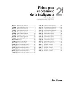 Fichas para el desarrollo de la inteligencia 2º Primaria