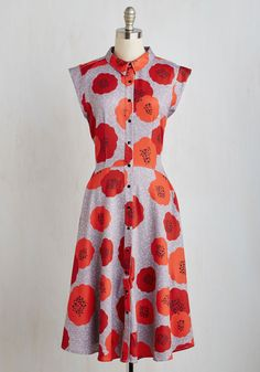 Come on, Get Poppy Dress | Mod Retro Vintage Dresses | ModCloth.com