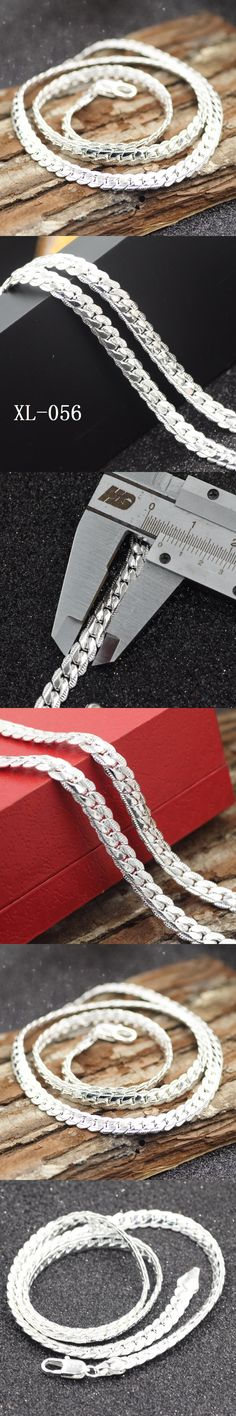 HOT sale New 2017 jewelry,925 sterling silver jewelry necklaces & pendants men jewelry necklace 6MM width 20inch
