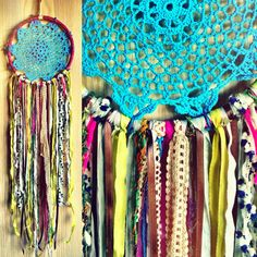 Bohemian Spirit Vintage Turquoise Dreamcatcher by kmichel on Etsy