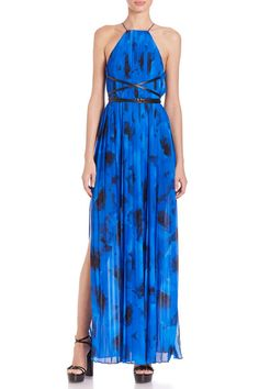 You'll have everyone singing the blues in this #MichaelKors dress #SaksStyle
