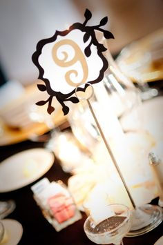 Wedding Table Numbers by RuffledCouture on Etsy, $2.25