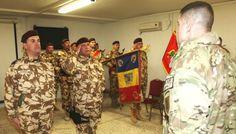 """TRANSFER DE AUTORITATE ÎN AFGANISTAN • În baza de operații înaintată Apache din provincia afgană Zabul a avut loc, pe 12 februarie, transferul de autoritate între Batalionul 151 Infanterie """"Lupii Negri"""" și Batalionul 20 Infanterie """"Scorpionii Negri"""". Theatres, Teatro"""