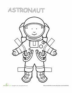 Worksheets: Career Paper Dolls: Astronaut