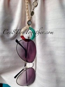 Crochet Necklace that holds your Sunglasses
