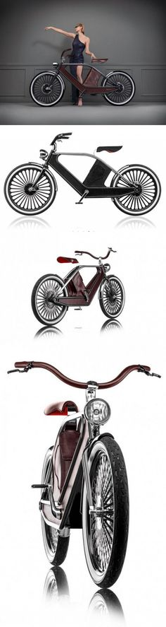 Cykno Bicycle, Leather-Upholstered E-Bikes
