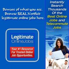 Instantly Search Thousands Of The Best Legitimate Online Jobs and Telecommute Jobs