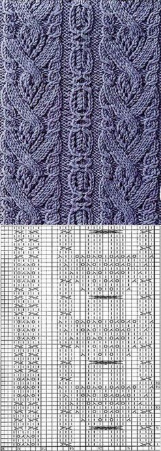 ideas for knitting stitches loom free pattern Chunky Knitting Patterns, Knitting Stiches, Cable Knitting, Knitting Charts, Knitting Designs, Crochet Stitches, Crochet Patterns, Crochet Cable Stitch, Stitch Patterns