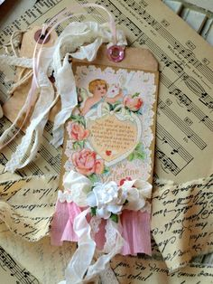 .Shabby Chic Tag saved from noellegarrettdesigns.com ~ Tags.
