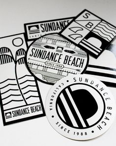 Sundance Beach Sticker Pack - Represent Santa Barbara surf culture and Sundance Beach with 6 different designed die-cut stickers and decals. Perfect to stick on your surfboard or skateboard.: