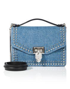 PHILIPP PLEIN . #philippplein #bags #stone #leather #lining #polyester #metallic #hand bags #silk #cotton #