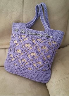 Gemstone Lace Market Bag Crochet Pattern - The Lavender Chair Bag Crochet, Crochet Shell Stitch, Crochet Market Bag, Crochet Handbags, Crochet Purses, Crochet Yarn, Crochet Stitches, Free Crochet, Crochet Patterns