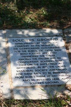 marker in Magnolia Cemetery, outside Charleston in South Carolina ...