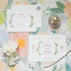Boho chic wedding invitations from @minted #floral #wedding #love
