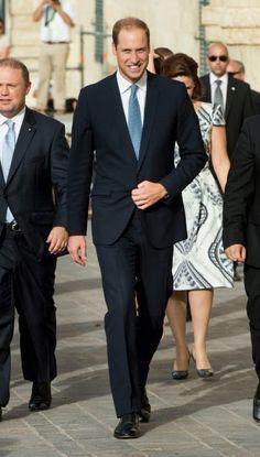 Royal Family Around the World: Prince William, Duke Of Cambridge Visits Malta - Day 1 on 20 September 2014