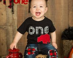 Handcrafted from my home in beautiful Colorado! by PatchesandPuppies Baseball First Birthday, First Birthday Shirts, 1st Birthday Outfits, Lumberjack Party, Birthday Pictures, Creative Outlet, Little Man, Boys Shirts, First Birthdays