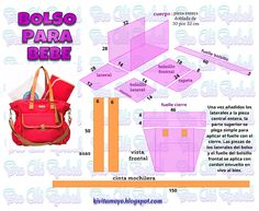 KiVita MoYo: BOLSO PARA BEBE Diy Bags No Sew, Leather Stamps, Leather Working, Sewing Patterns, Abs, Mini, Projects, Blog, Couture