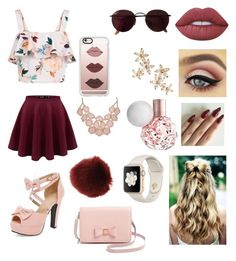 """Untitled #63"" by dianaeveshowell ❤ liked on Polyvore featuring New Look, Lime Crime, Ted Baker, Miss Selfridge, Bonheur, Casetify and Ray-Ban"