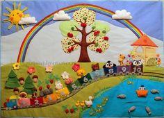 """Развивающие игрушки ручной работы. Ярмарка Мастеров - ручная работа Панно """"Вишневое дерево"""" для развивающих игр(авторская работа. Handmade."""