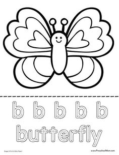 Attention Amazing Coloring: Butterfly coloring pages preschool free Summer Coloring Pages, Coloring Sheets For Kids, Coloring Pages For Boys, Free Printable Coloring Pages, Free Coloring Pages, Coloring Books, Colouring, Butterfly Template, Printable Butterfly