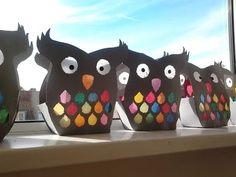 owls … – World of Light Preschool Crafts, Kids Crafts, Arts And Crafts, Paper Crafts, Diy Crafts For Teen Girls, Diy For Kids, Unicorn Diy, October Crafts, Autumn Crafts