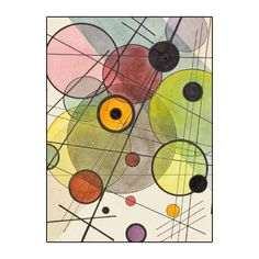 LACMA Exclusive! Kandinsky's glorious color will make writing notes - or gift giving - effortless with these 20 note cards. His designs were often based on music and geometry. The box itself is design